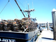 Fishing Boat Nets Stock Images