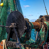 Fishing Boat Nets and Winch Royalty Free Stock Photography