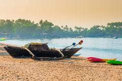 Fishing boat with the network Royalty Free Stock Images
