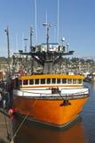Fishing boat in Newport Oregon. Stock Photos