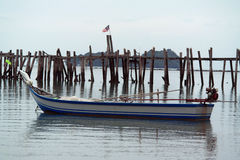 Fishing Boat at Bland Sand Beach Langkawi Royalty Free Stock Photos