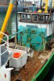 Fishing boat for North Sea shrimps stock photos