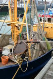 Fishing boat for North Sea shrimps Stock Photo