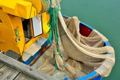 Fishing boat for North Sea shrimps royalty free stock photo