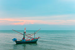 Fishing boat and ocean background Royalty Free Stock Photos