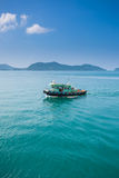 Fishing boat on ocean. In koh chang ,thailand Royalty Free Stock Photo