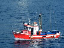 Fishing boat in the ocean Royalty Free Stock Images