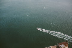 Fishing Boat on the ocean Stock Image
