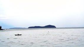 Fishing Boat off the Coast Phuket Ocean Thailand stock footage