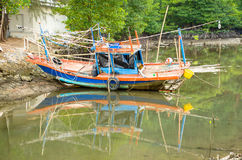 Fishing boat. An old small fishing boat Stock Photography