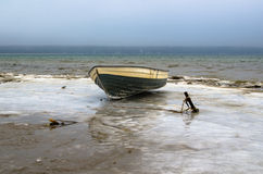 Free Fishing Boat On The Shore Of The Baltic Sea Royalty Free Stock Image - 49068566