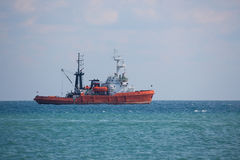 Fishing boat in open sea Royalty Free Stock Photography