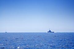 Fishing-boat on open sea Royalty Free Stock Photos