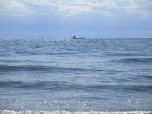Fishing boat in the open sea, Ukraine Stock Image