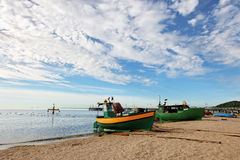 Fishing boat in Orlowo Royalty Free Stock Photography