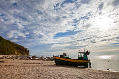Fishing boat in Orlowo Royalty Free Stock Photo