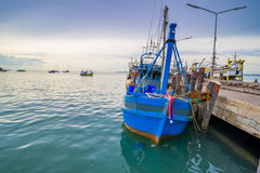 Fishing boat is out fishing Royalty Free Stock Photography