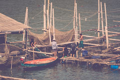 Fishing boat is out fishing Royalty Free Stock Image