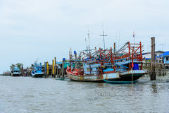Fishing boat is out fishing. Royalty Free Stock Photos