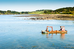 Fishing Boat. Oyster Boat in a bay Royalty Free Stock Photography