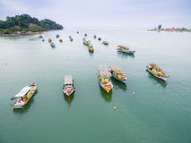 Fishing boat park Royalty Free Stock Photo