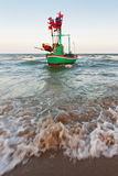 Fishing boat park at beach Stock Photo