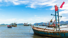 Fishing boat park at beach Royalty Free Stock Images