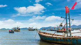 Fishing boat park at beach Stock Photography