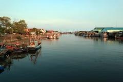 Fishing boat park stock photography