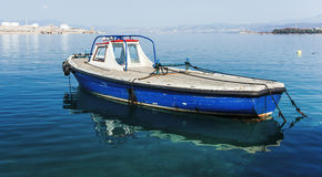 Fishing boat parked Royalty Free Stock Photos
