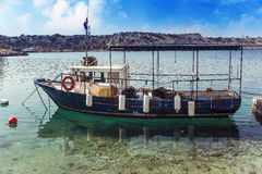 Fishing boat parked Royalty Free Stock Photography