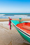 Fishing boat parl at beach Royalty Free Stock Photo