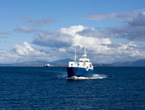 Fishing boat and passenger boat Royalty Free Stock Photos