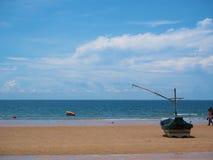 Fishing boat on peaceful beach