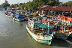 Fishing boat at pier in phuket, Thailand Royalty Free Stock Image