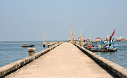 fishing boat at pier, Thailand Royalty Free Stock Photography