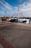 Fishing boat in Polish port. Royalty Free Stock Images