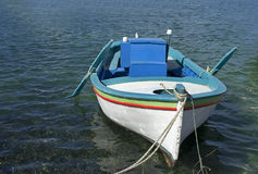 Fishing boat. On the port royalty free stock images