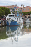 Fishing boat in the port of Caorle. Stock Image