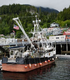 Fishing boat at the port of Ketchikan royalty free stock photography