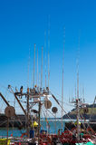 Fishing boat in port of Lekeitio Stock Image