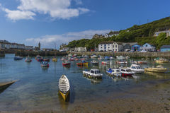 Fishing boat in Porthlevan historic port Stock Image