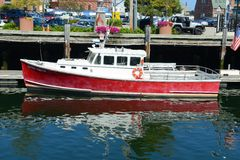 Fishing Boat at Portland, Maine, USA Stock Photography