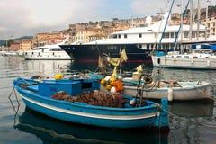 Fishing Boat At Portoferraio, Elba Island Stock Photo