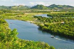 Fishing boat on pranburi river Stock Photography