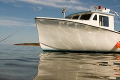 Lobster fishing boat in prince edward island Royalty Free Stock Photos