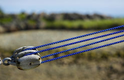 Fishing Boat Pulley Rope Tension Stock Images