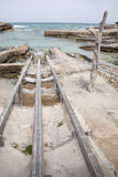 Fishing Boat Ramps, Es Calo, Formentera Royalty Free Stock Photography