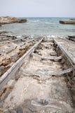 Fishing Boat Ramps, Es Calo, Formentera Royalty Free Stock Image