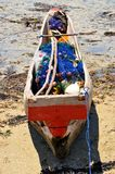 Fishing boat ready to go, Zanzibar Stock Images